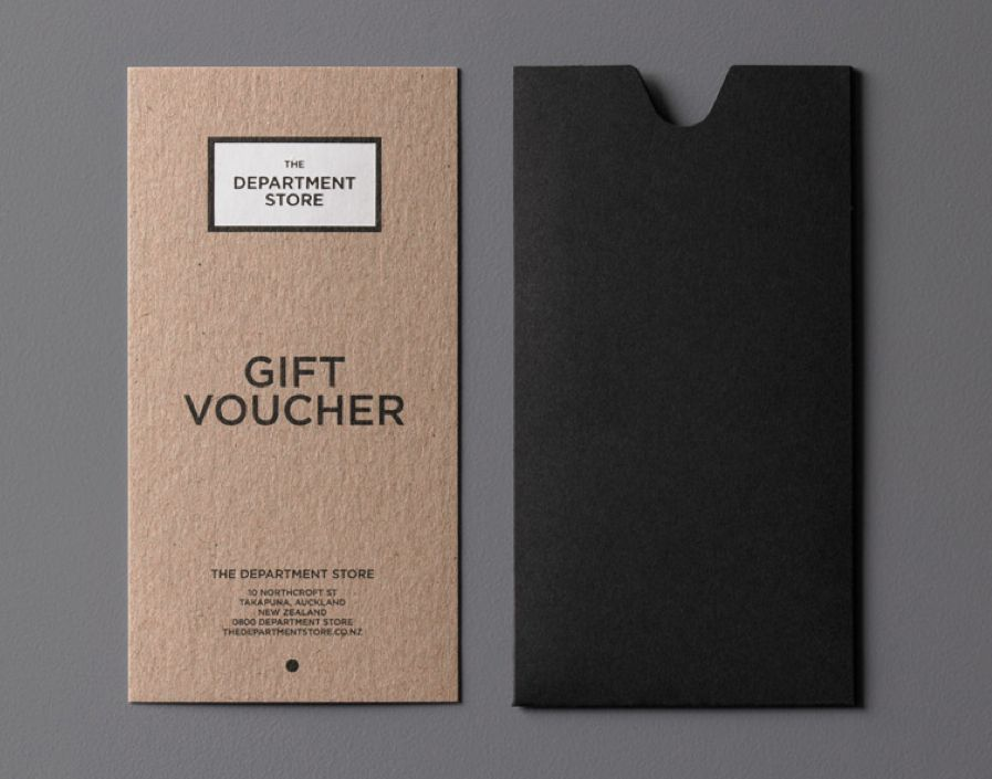 Gift Voucher by Brogen Averill for The Department Store   - make your own gift certificates free