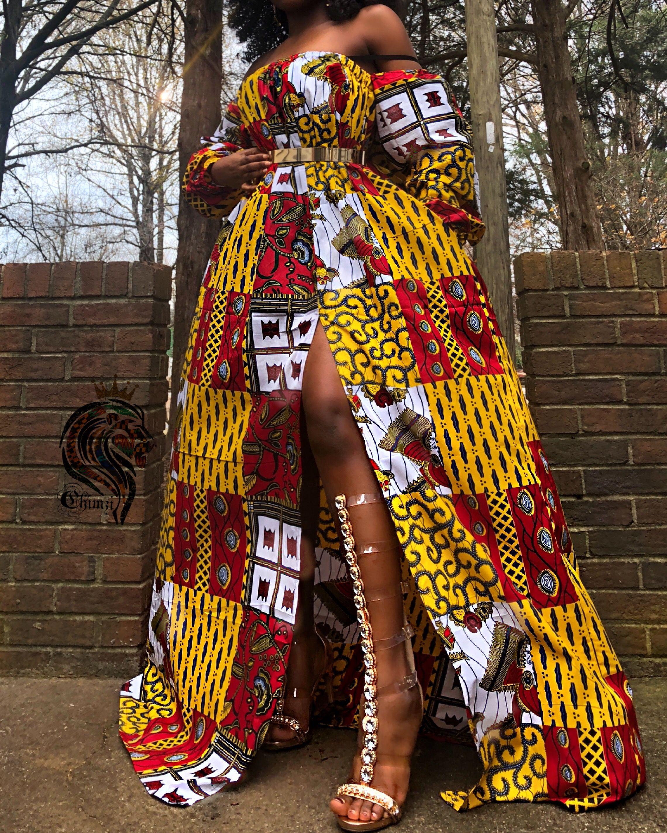 Saturday Rema Kente Dress Chimzi Long Summer Dresses African Clothing Kente Dress [ 2848 x 2280 Pixel ]