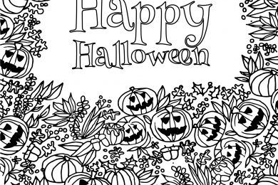 Dessin Joyeux Halloween.Pin On Coloriages D Halloween Coloring Pages