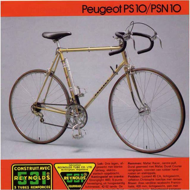 Gold Peugeot PS 10 | Velo Peugeot | Bicycle, Bike, Peugeot