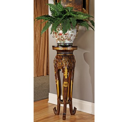 French Neoclassical Griffin Pedestal Plant Stand Elephant Carving Elephant Sculpture Plant Stand Table