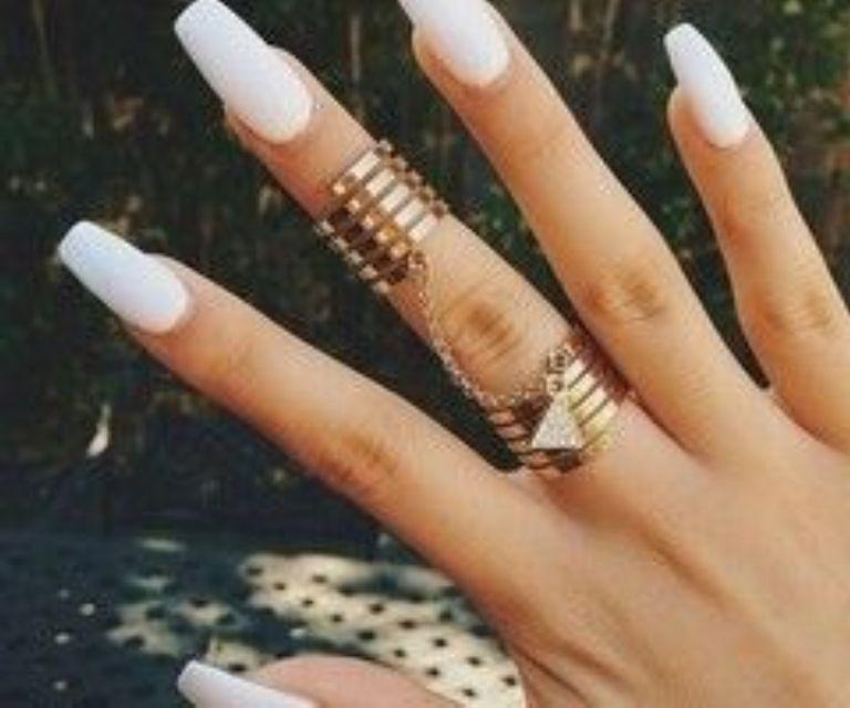 Acrylic Nails Designs White Tips Astonishing Cute White Acrylic