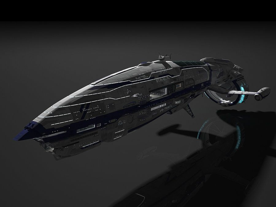 space ship, sci-fi, civil ship 2 by smirnovartem ...