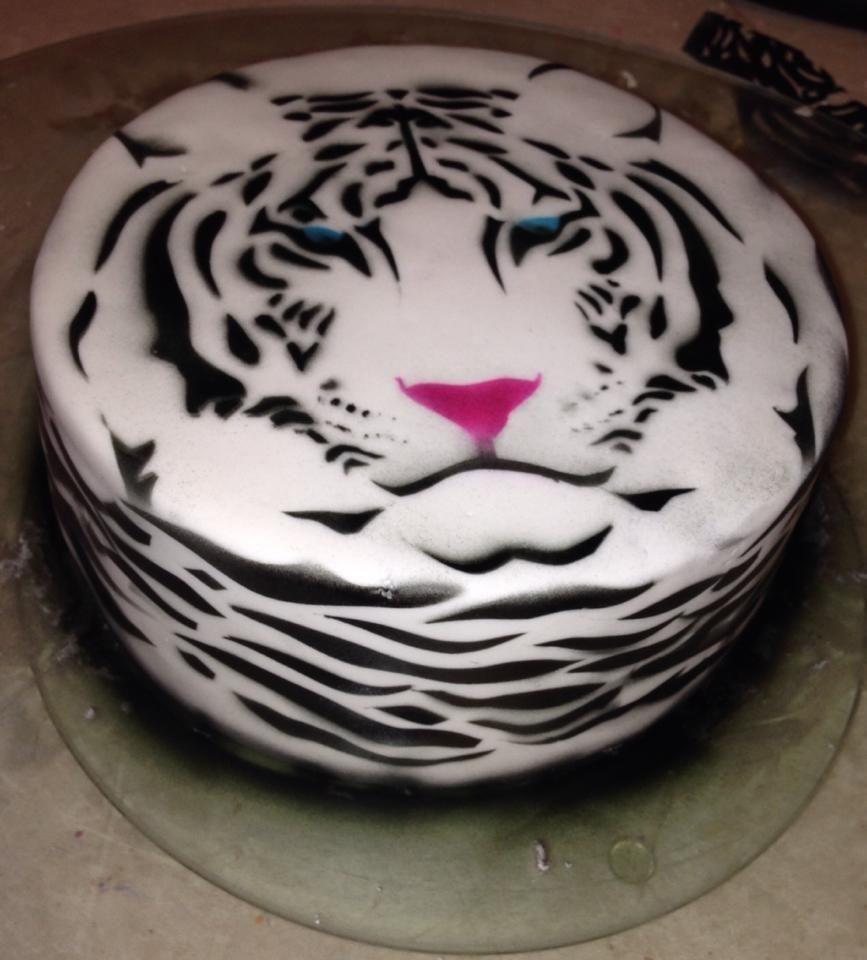 Tiger Print EDIBLE image Cake Decorations Animal cake strips Icing Sheets