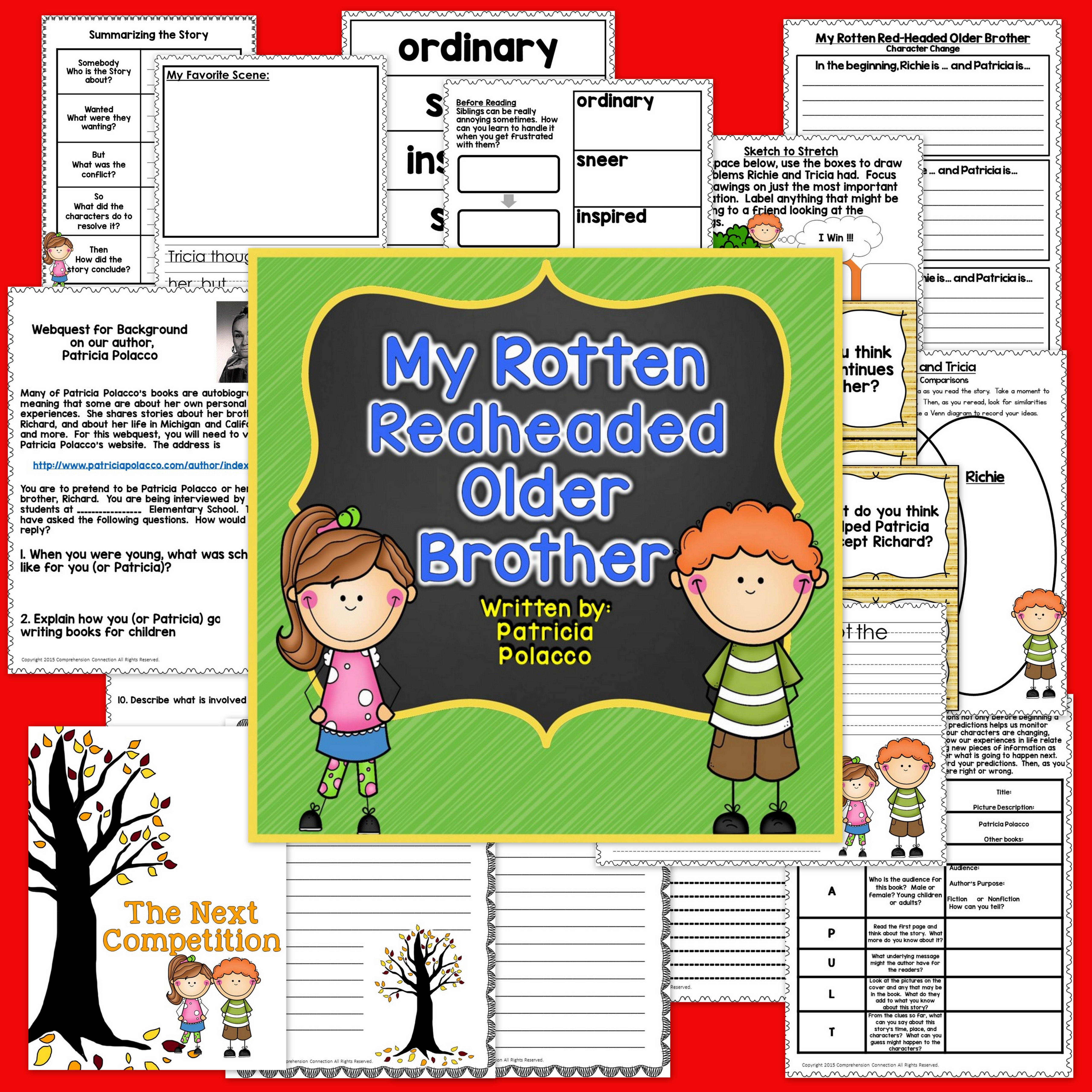 My Rotten Redheaded Older Brother Guided Reading Unit In Digital And Form