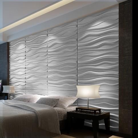 Love The 3d Wave Panels For Behind Bed In Master In 2020 Accent Wall Bedroom Home Decor Bedroom Wall Texture Design