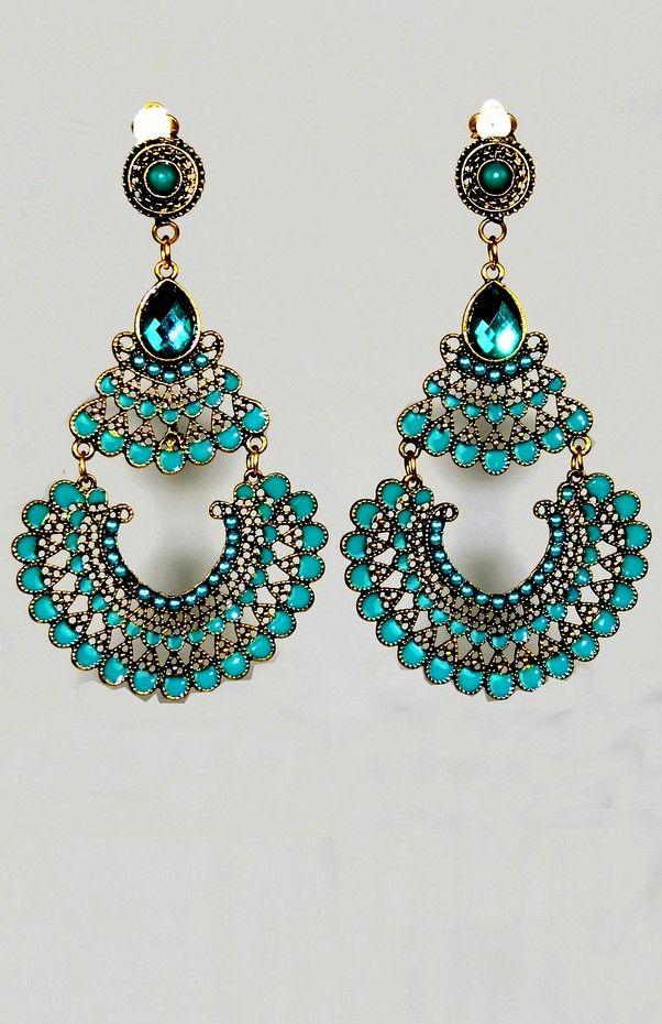 Boucles d'oreilles bleu turquoise