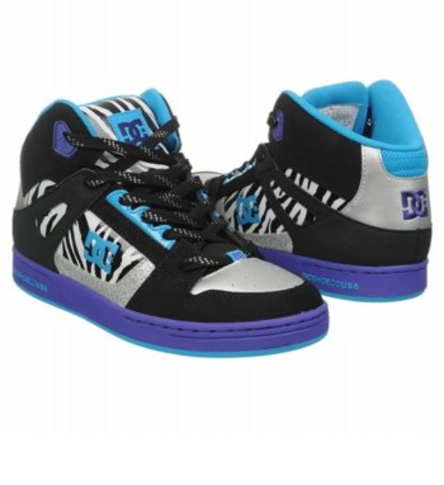 The New DC Blue Zebra Hi-Top Sneakers!