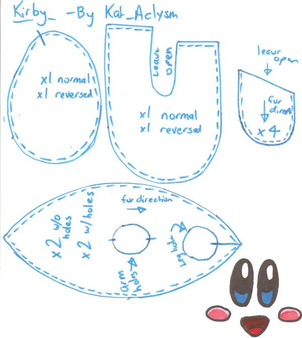 Kirby Pattern by Kat-Aclysm | Moldes | Moldes y Infantiles