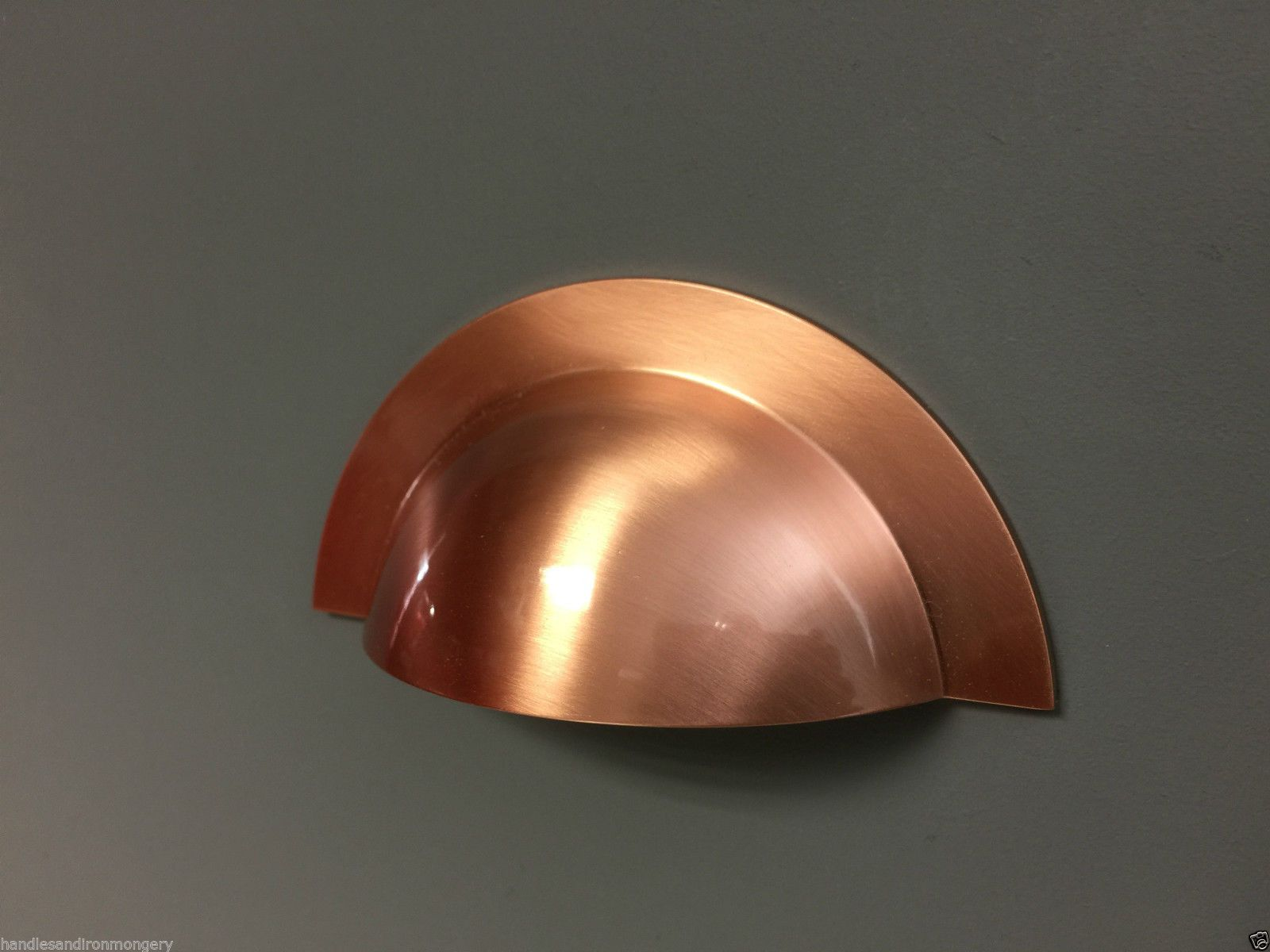 Cup handles for kitchen cupboards - Brushed Copper Cup Pull Handle Knob Bow Kitchen Cupboard Door Round Cup In Home