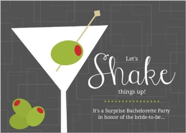 Retro Gray and Green Olive Cocktail Party Invitation – Cocktail Party Invitation Template