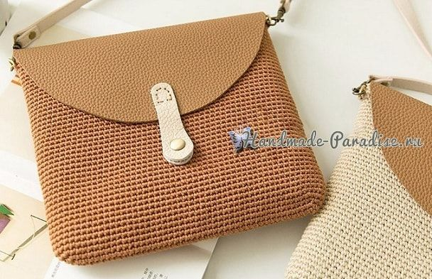 47cb357599fc Крючком. Маленькая сумочка через плечо #crochet #handmade #crafts #описание  #crochetbag #сумкакрючком #сумка #схемывязания #вязанаясумка