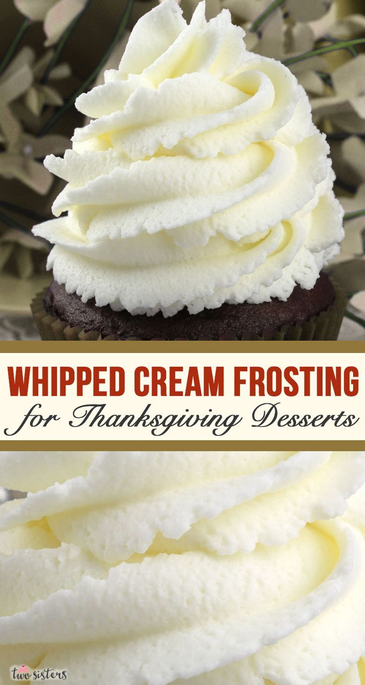 The Best Whipped Cream Frosting - Two Sisters