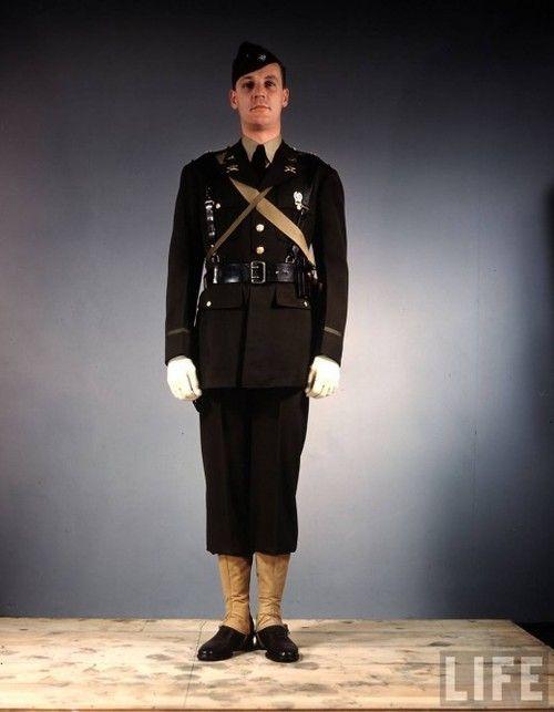 US Army officer (First Lieutenant) in regulation field uniform