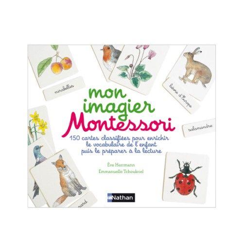 Un Coffret Pour Apprendre Les Premiers Mots Et Leur Graphie Selon La Pedagogie Montessori 150 Cartes Sur 5 Themes Les Ani Montessori Imagier Imagier Animaux