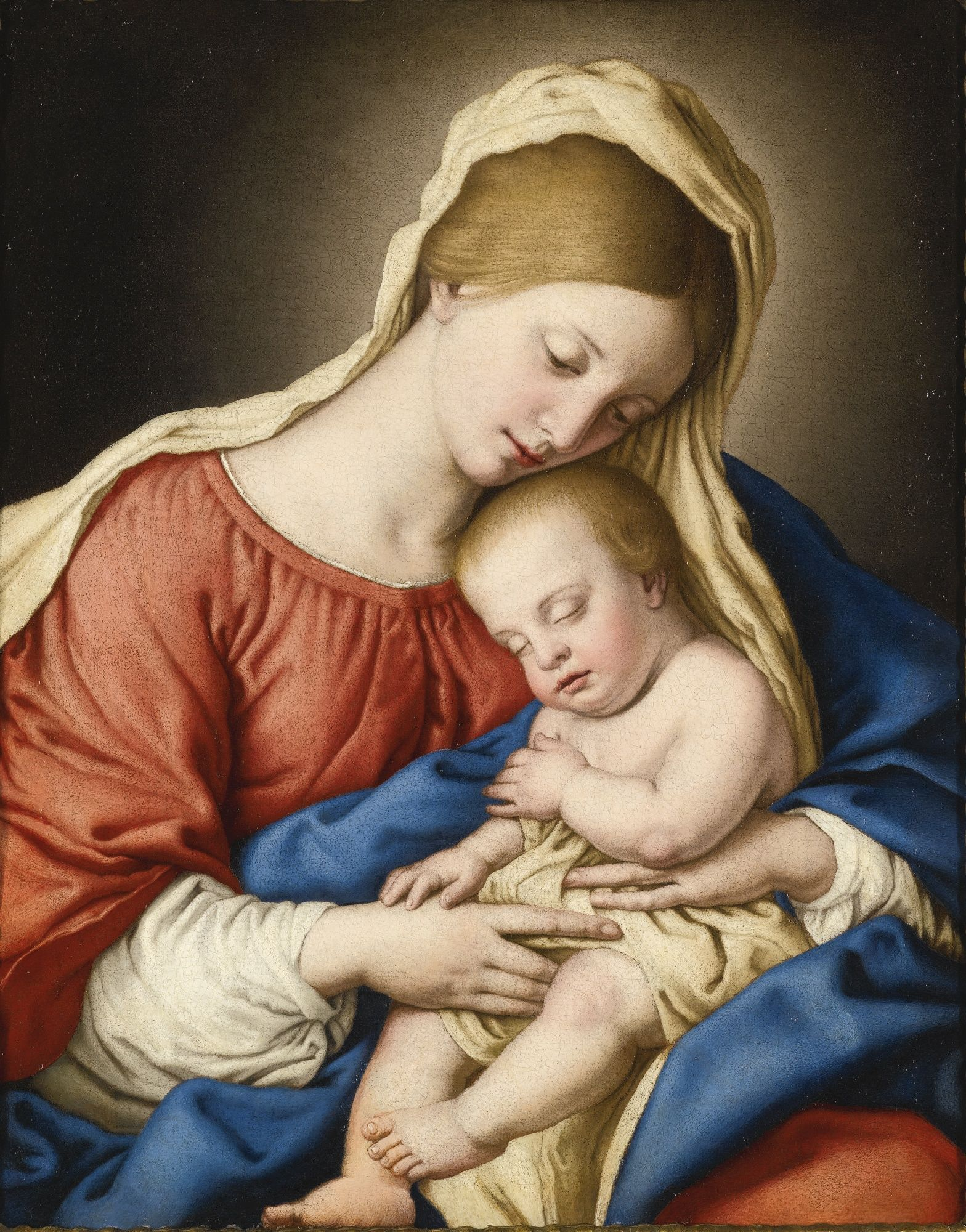 Giovanni Battista Salvi called Sassoferrato Madonna and Child