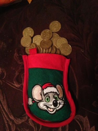 400 CHUCK E CHEESE TOKENS in Christmas Stocking = $ 100 worth! MAKES A GREAT GIFT!