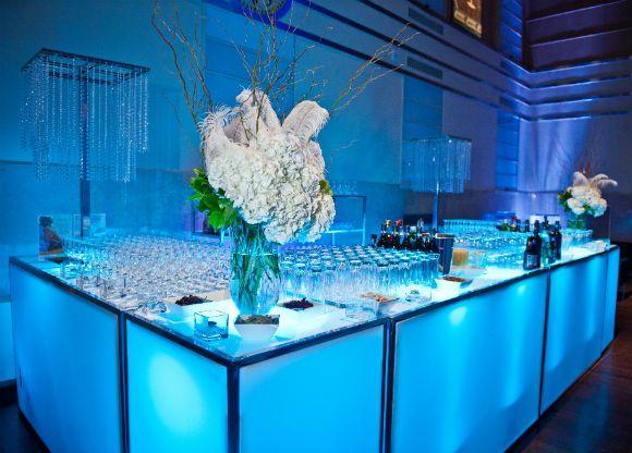 a romantic silver and white wedding in toronto ontario - Bar Decor