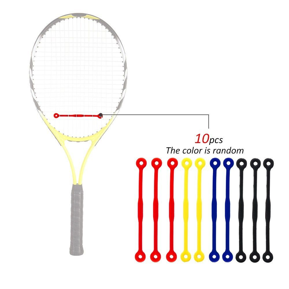10pcs Tennis Damper Silicone Tennis Racket Damper Shock Absorber To Reduce Tennis Racquet Vibration Tenni Racquet Sports Tennis Racket Tennis Racquet