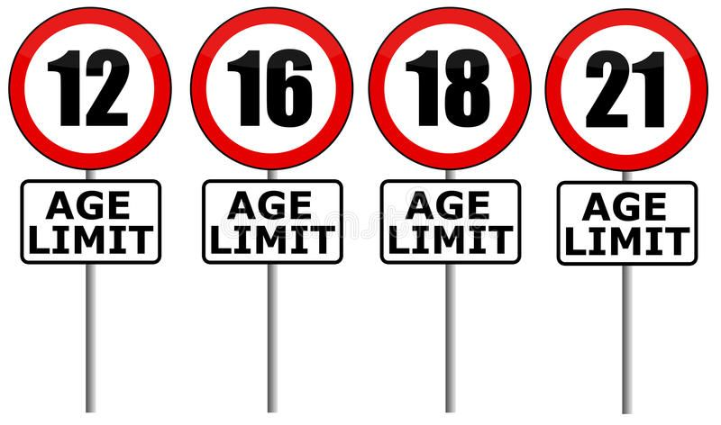 Age limit Entry limits for different ages