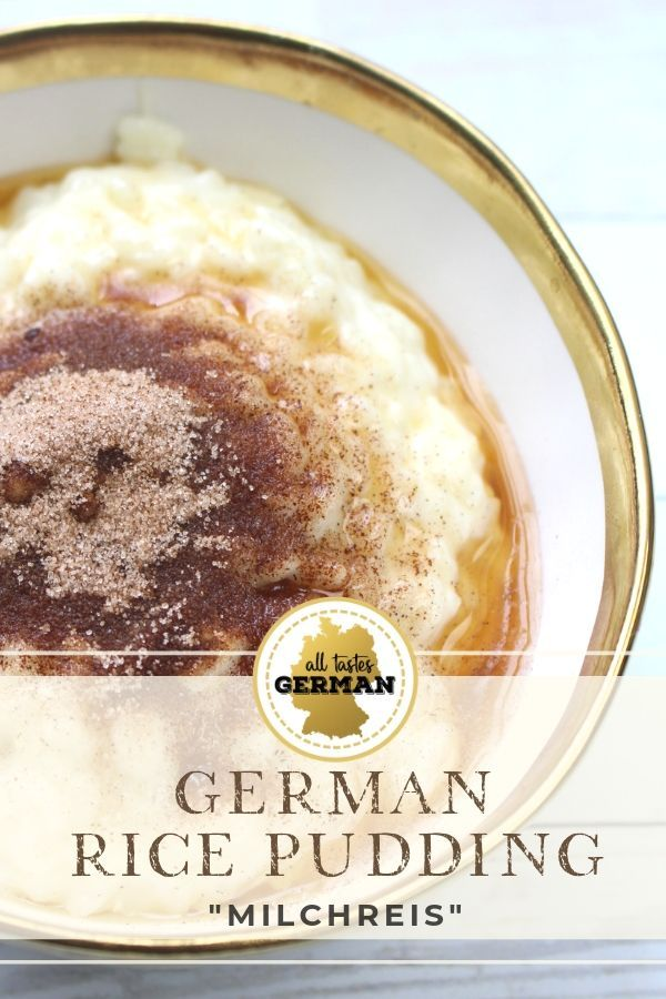 German Rice Pudding - Milchreis | Recipe in 2020 | German ...