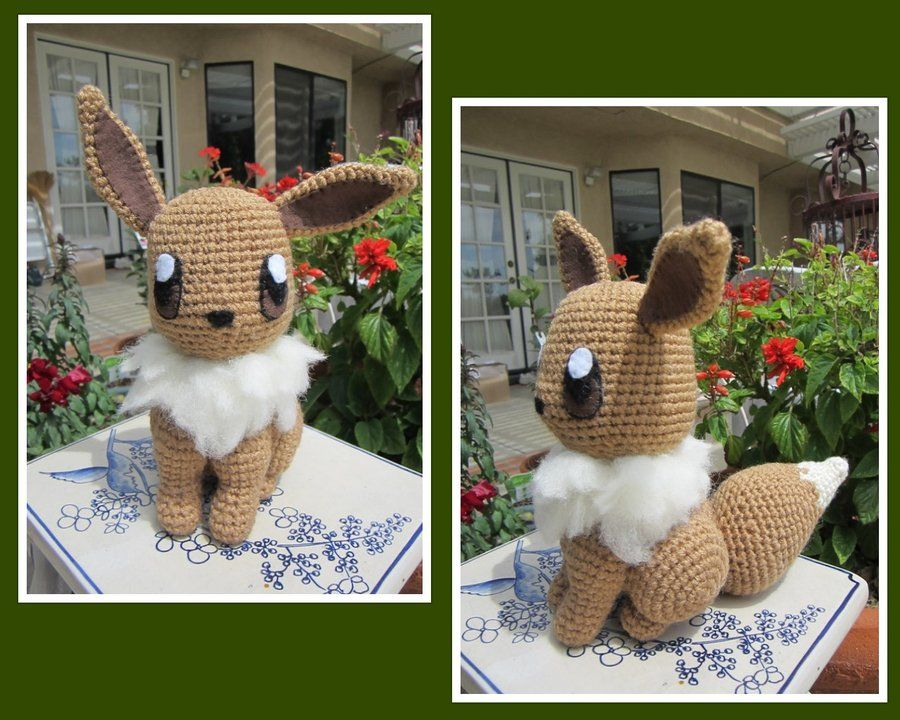 Crocheted Eevee Plush by aphid777.deviantart.com on @deviantART ...