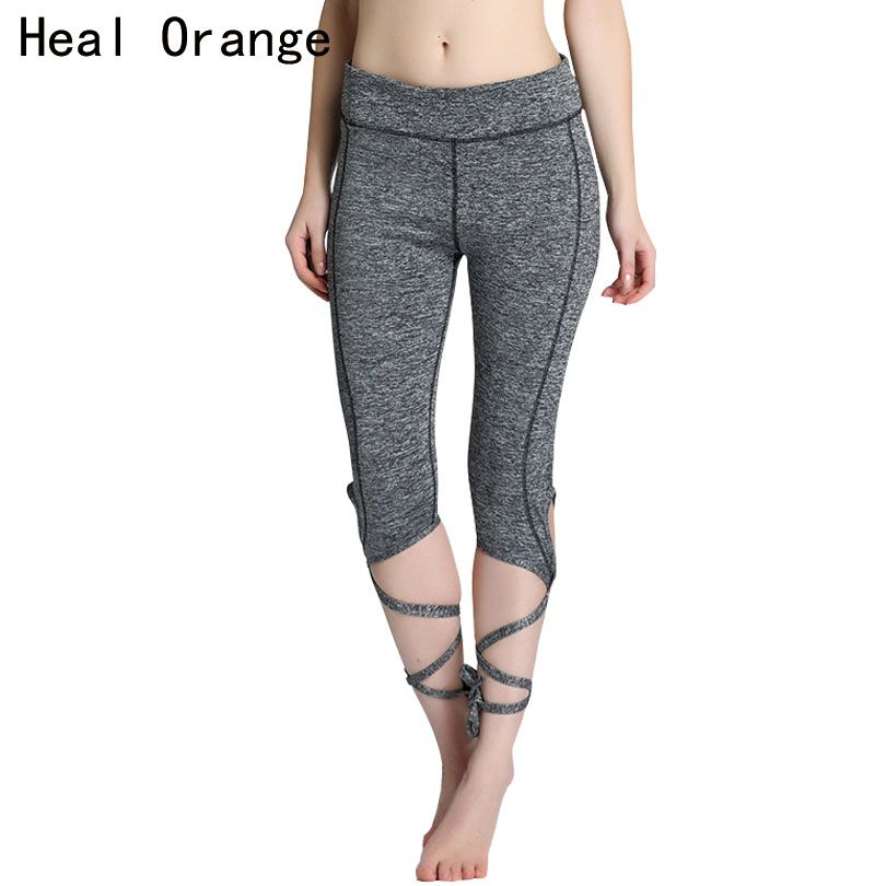 982c59504f63a HEAL ORANGE Yoga Pants Tights Leggings Ballet Spirit Bandage Cross-line Elastic  Waist Sportswear Fitness Dance Sports Trousers -- Shop 4 Xmas n 2018.