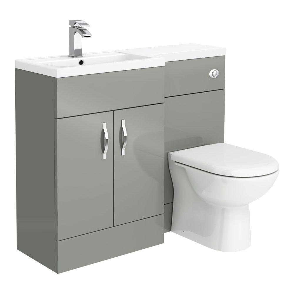 Apollo2 1100mm Gloss Grey Combination Furniture Pack Excludes Pan Cistern Victorian Plumbing Uk Modern Bathroom Bathroom Decor Colors Gray Bathroom Decor