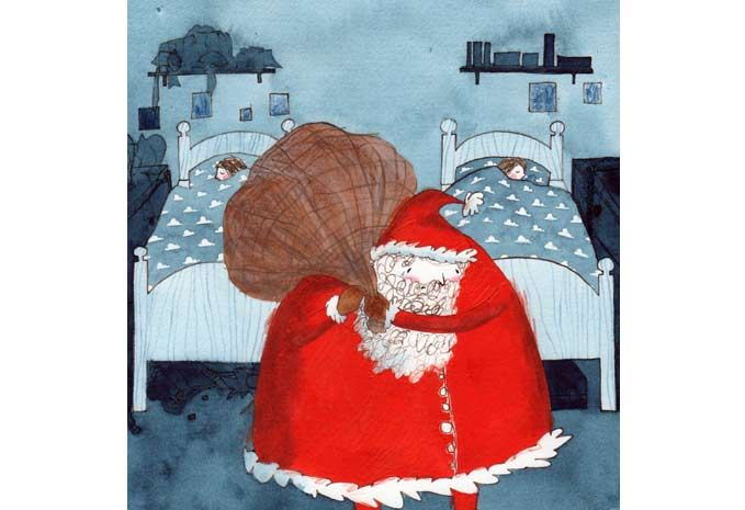 Rebecca Cobb The Empty Stocking By Richard Curtis Artthrob