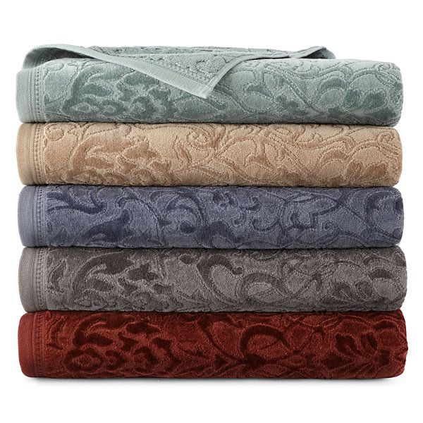 Royal Velvet Sculpted Bath Towels Jcpenney