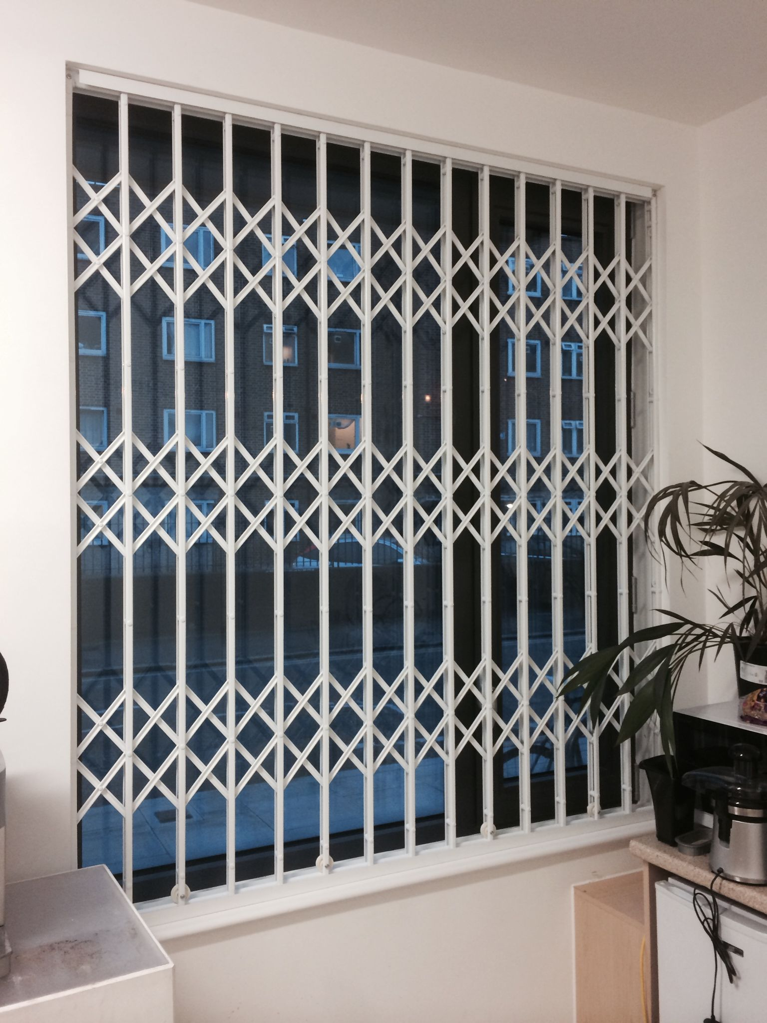 Rsg1000 Retractable Security Grille Securing An Office In