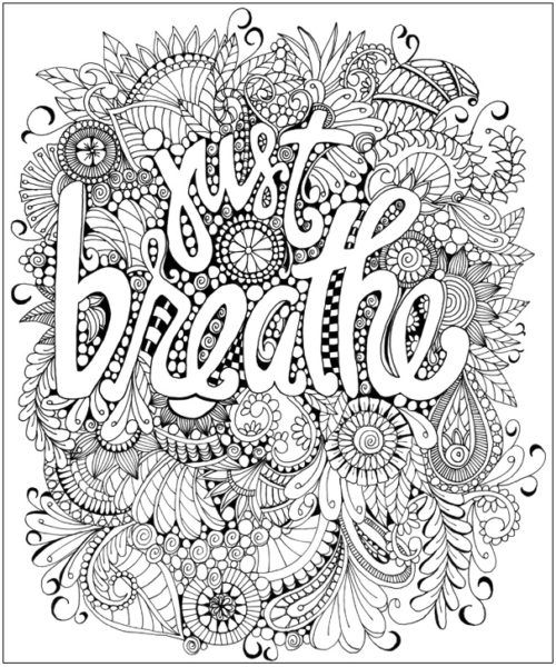 Hand Lettering Coloring Pages Quote Coloring Pages Adult