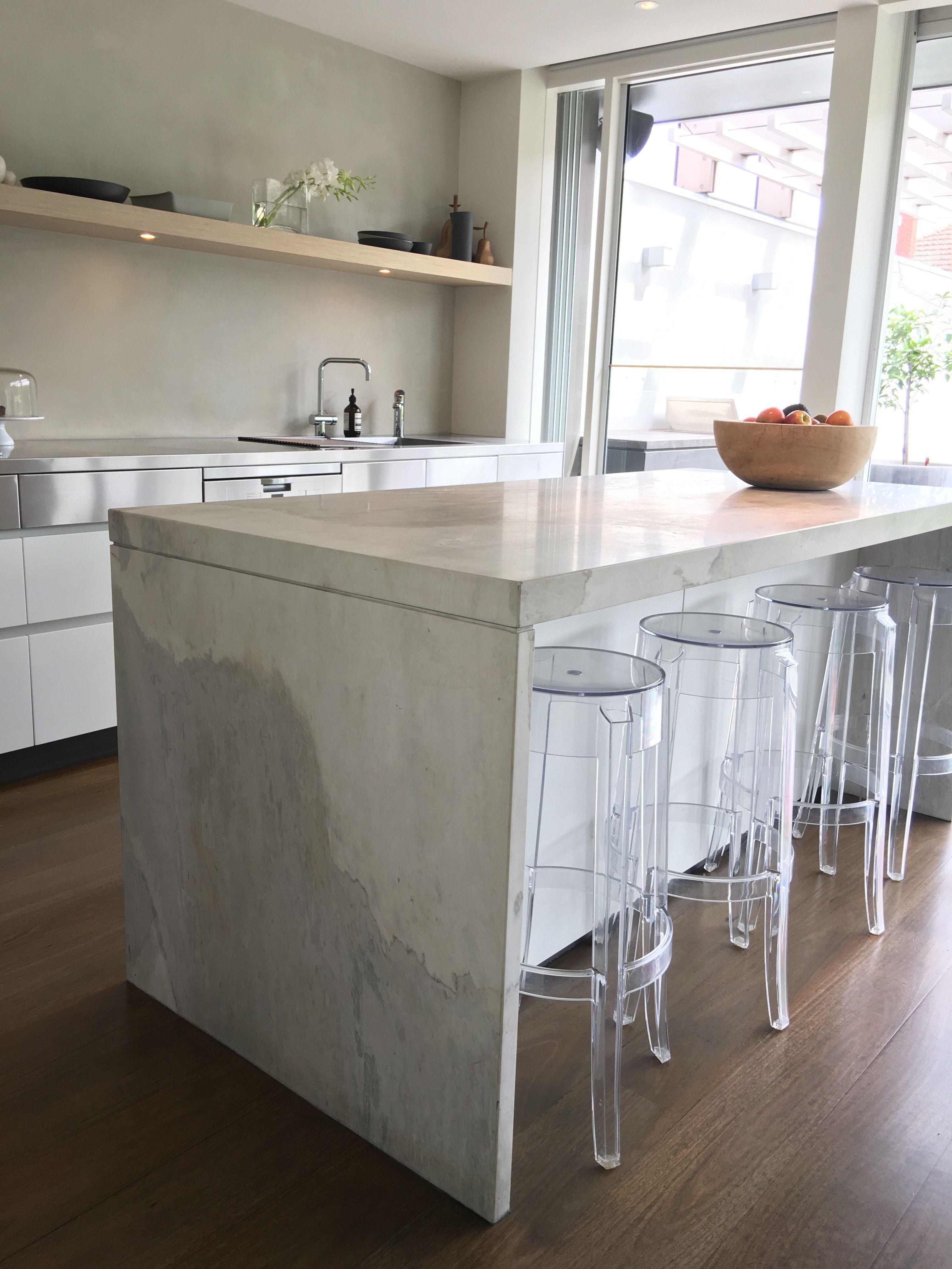 Stunning Elba Kitchen Designed By @neilarchitecture #cdkstone #elba #marble  #dolomite #