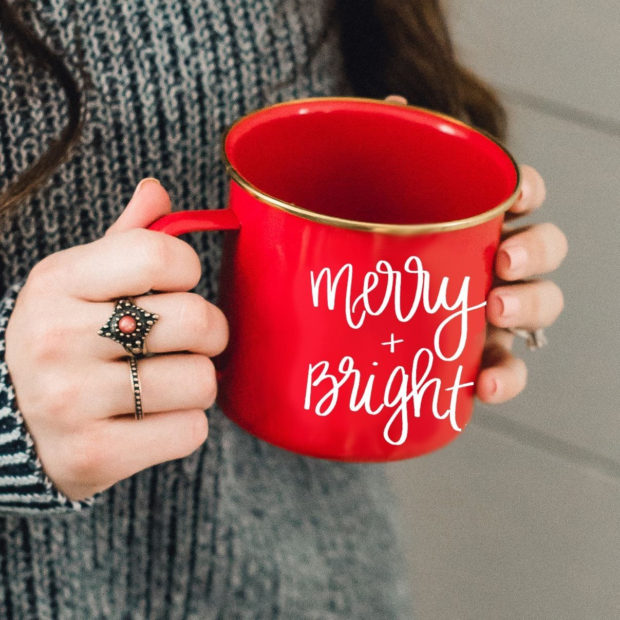 Merry and Bright Christmas Gift Holiday Present Spirit