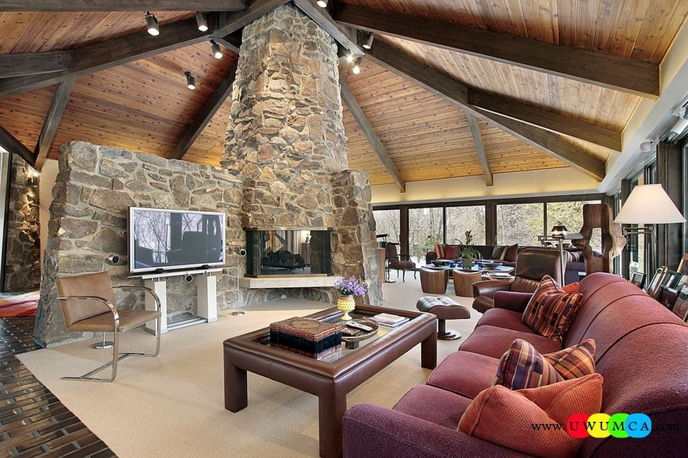 Decorationliving Room With Stone Fireplace How To Decorating And Custom Small Living Room Design Layout Review