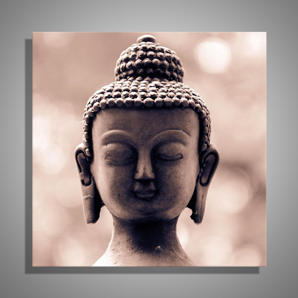 Buddha Head Decor Oil Painting Canvas Buddha Head Wall Art Decoration Painting Home