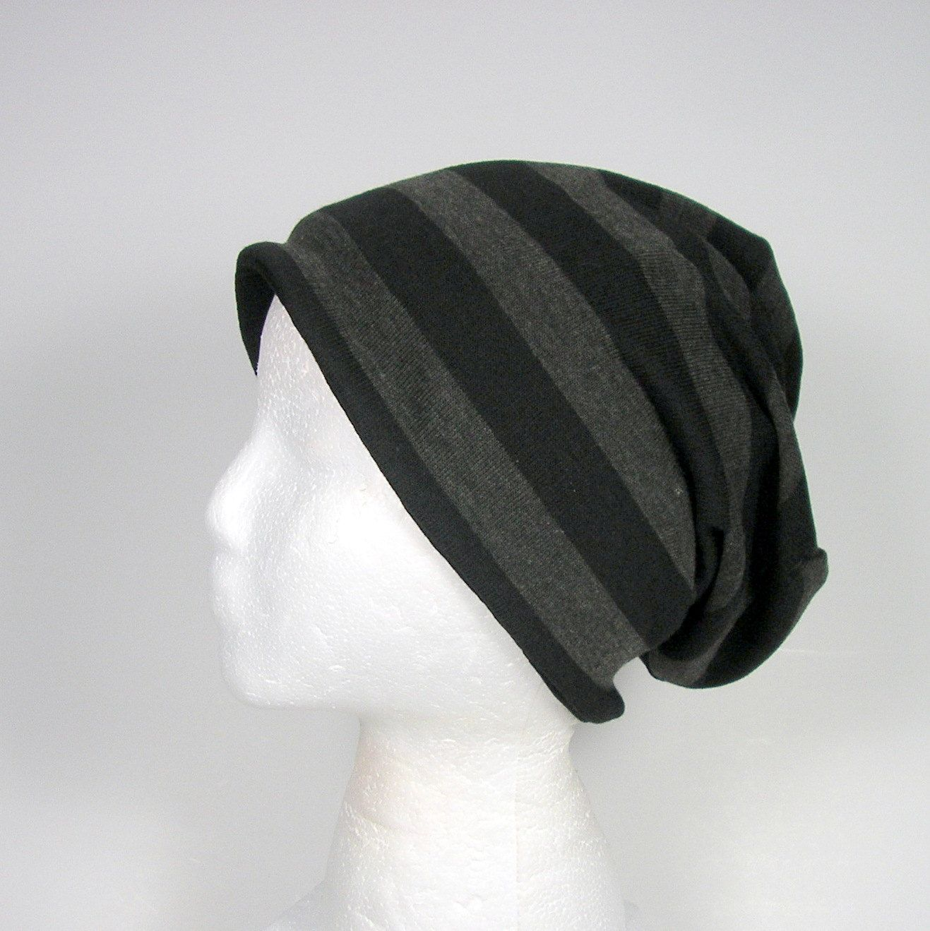 Slouchy Beanie for Men Slouch Hat Reversible Slouchy Beanie Womans ...