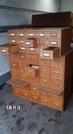 Szafka Katalogowa Apteczna Loft Iahu Unikat Drewniane Szufladki Dabrowa Gornicza Image 1 Furniture Cabinet Home Decor