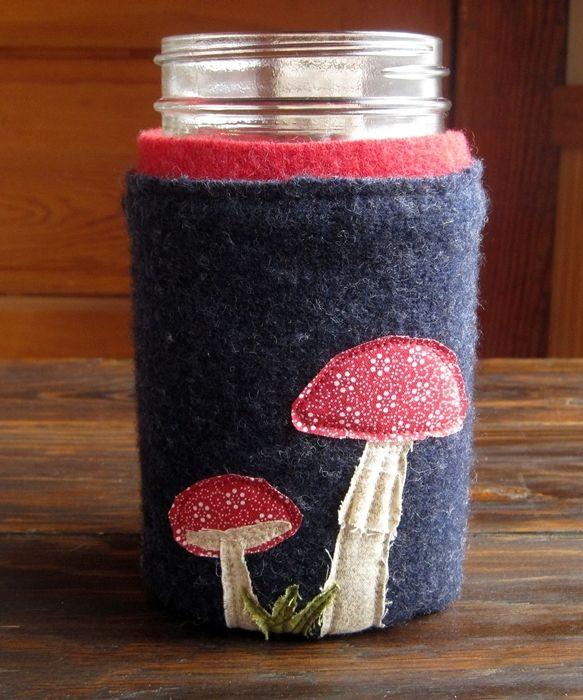 Felted Wool Jar Cozy