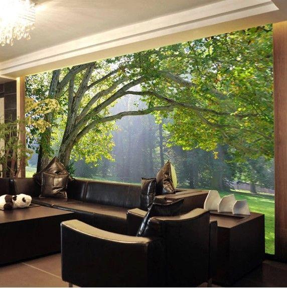aliexpress: beli kustom 3d foto pemandangan hutan tv latar
