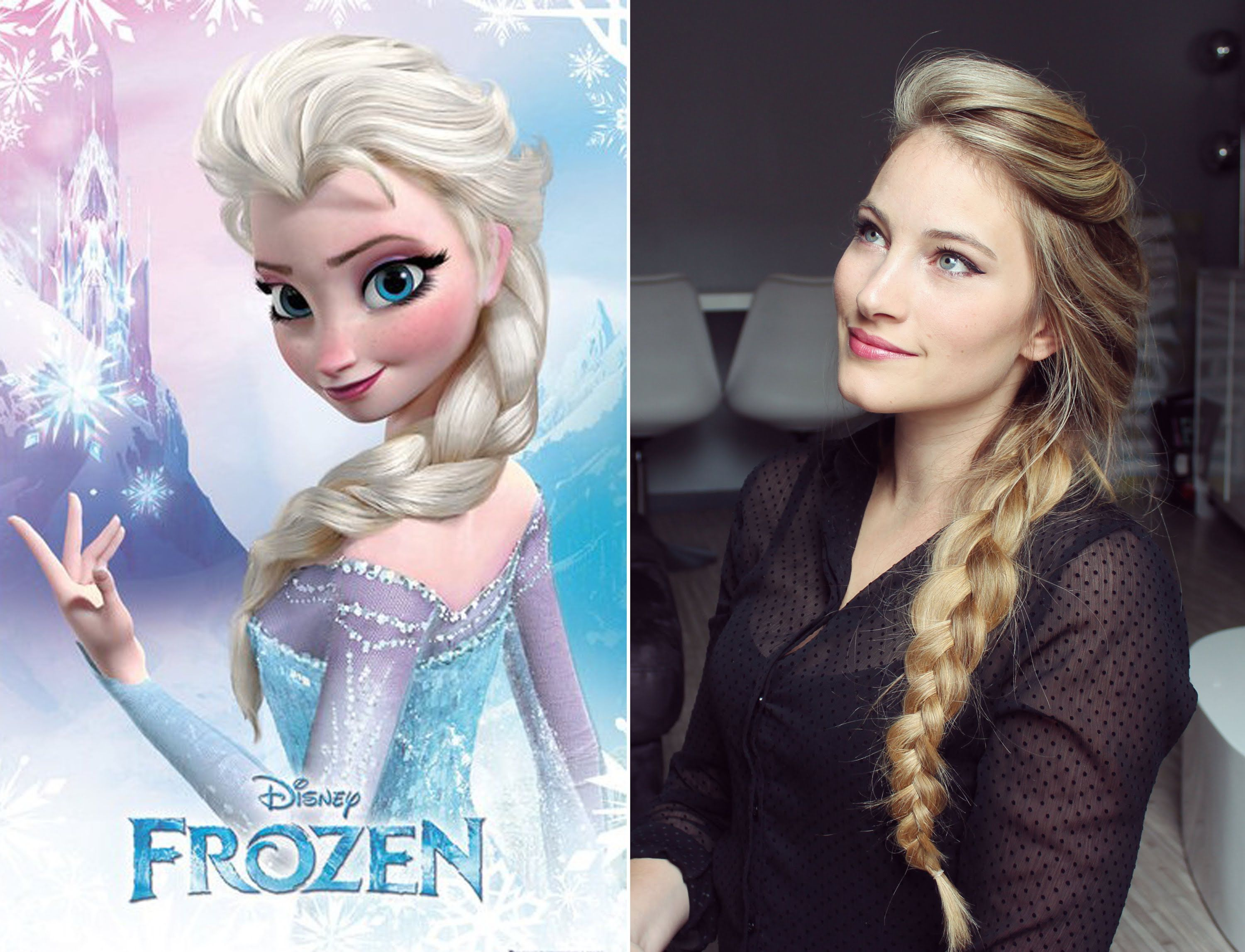 Elsa Frozen Inspired Make Up And Braid Coiffure Et