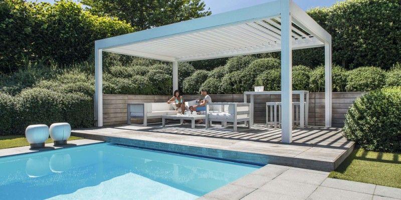 Poolside Terrace Cover Pergola Pergola Cost Outdoor Rooms