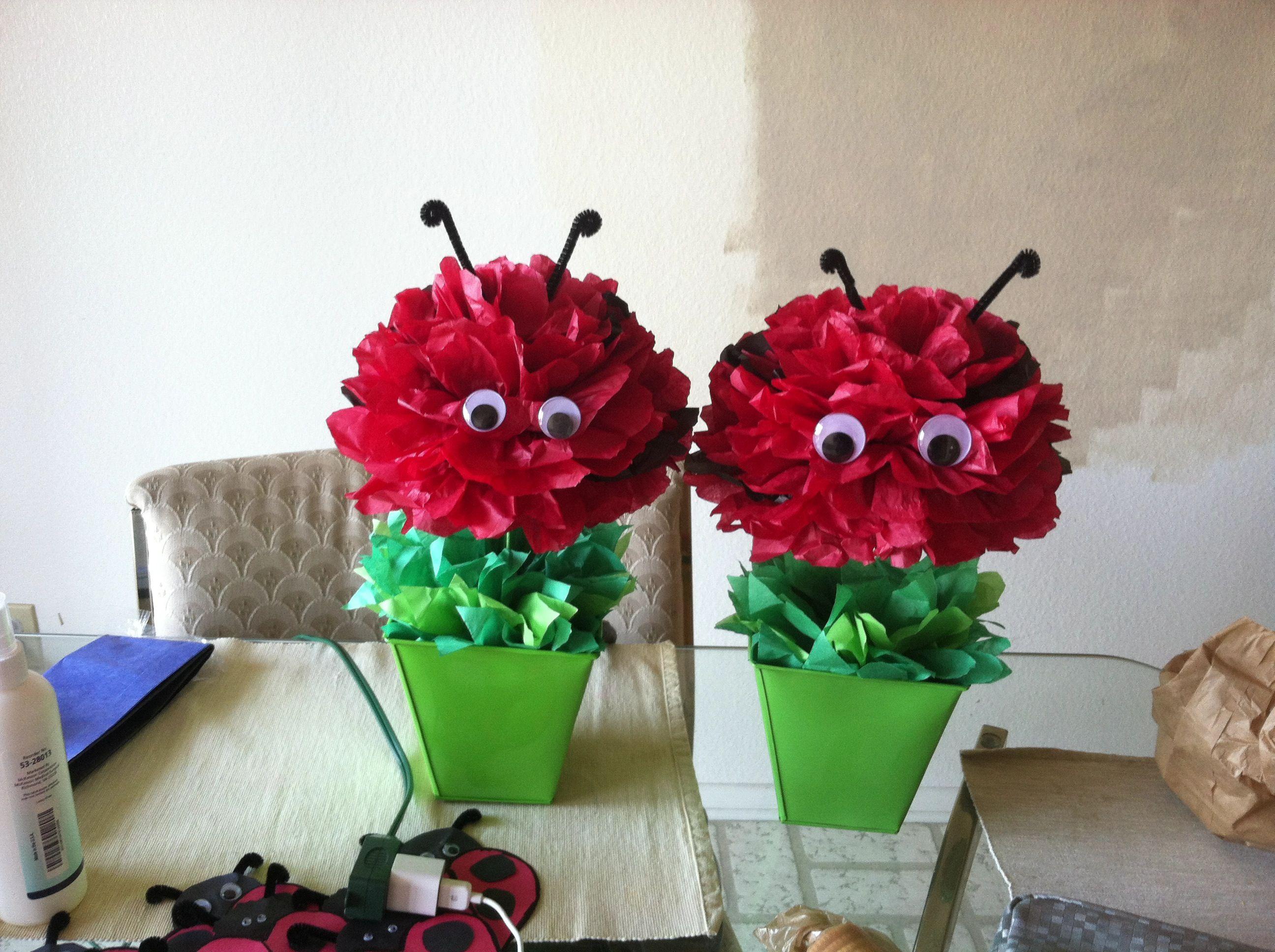 Lady bug de papel china decoraciones para fiestas - Decoraciones de papel ...