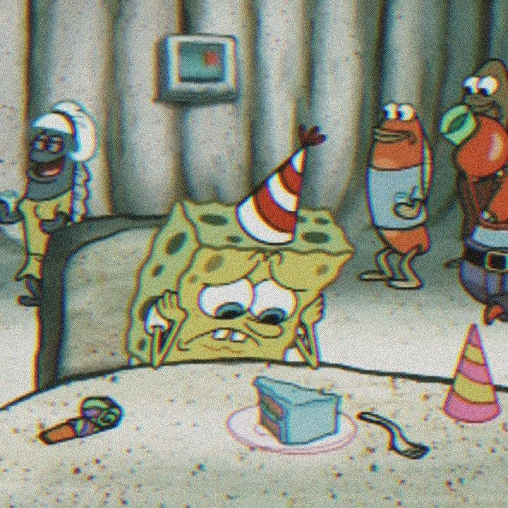 Aesthetic Sad Spongebob Wallpaper