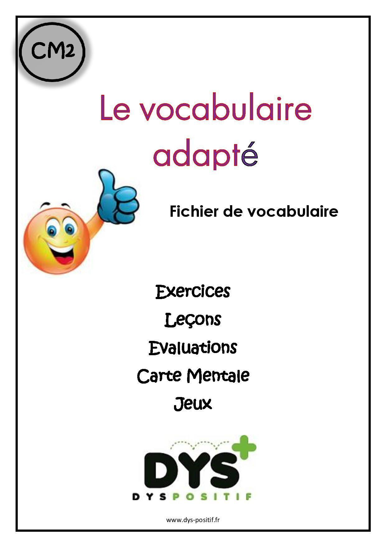 Cm2 - 5ème primaire - Fiches à imprimer DYS | Exercices de vocabulaire, Exercices orthographe ...