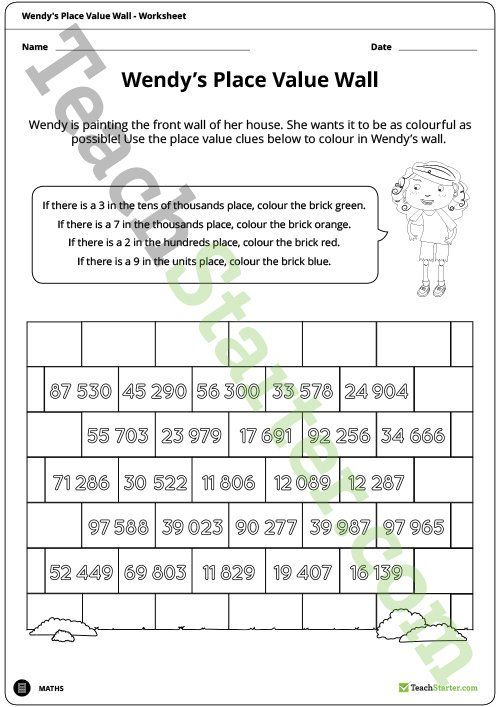 Teaching Resource A worksheet to use to consolidate student - place value worksheet