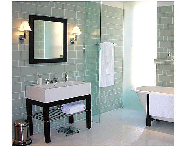 Glass Tile Bathroom Designs Enchanting Glass Tile Bathroom Ideas  In Century Old Mosaic Tile Scenes One Decorating Inspiration