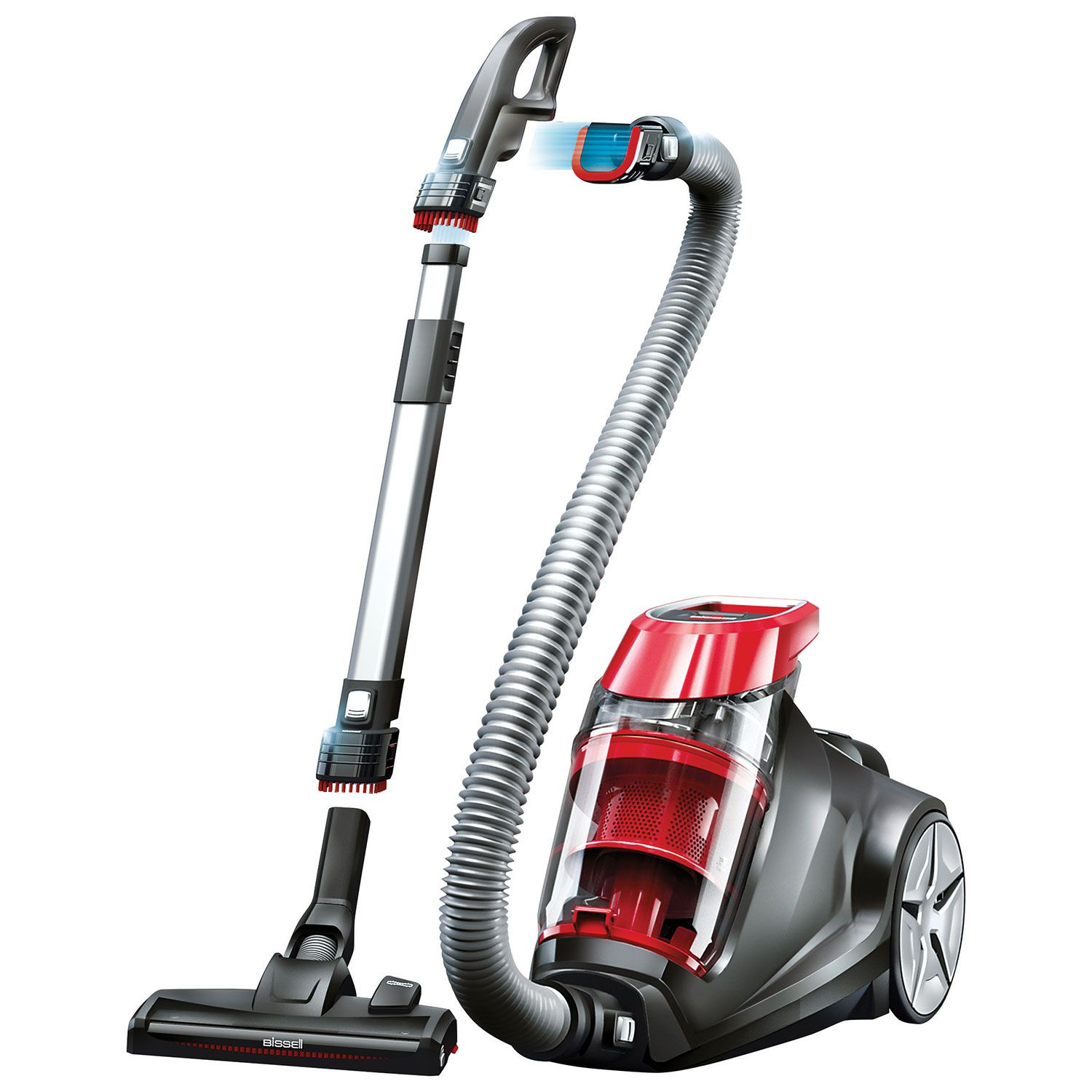 bissell expert bagless canister vacuum red canister vacuums best buy - Canister Vacuums