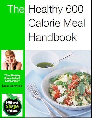 FREE Healthy 600 calorie meal handbook, the perfect Mummy Shape School companion