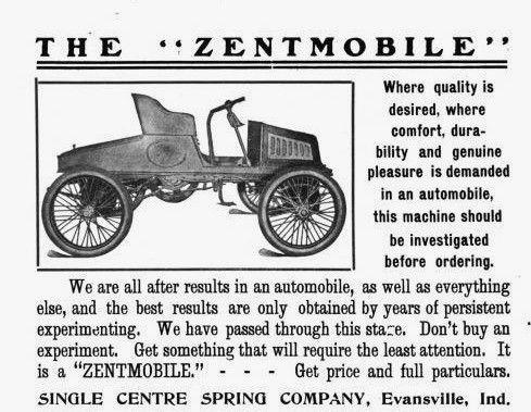 1903 Zentmobile Two Passenger Roadster Magazine Ad